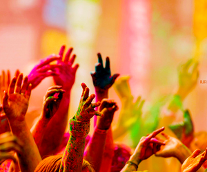 hands, party, and colors image