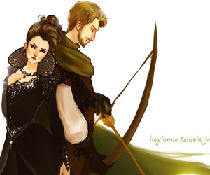 once upon a time, outlaw queen, and ouat image