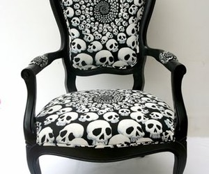 skull and chair image