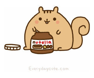 nutella, food, and squirrel image