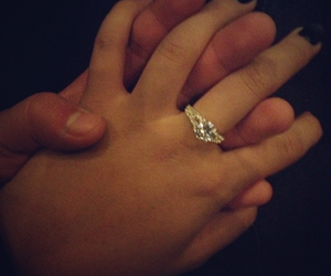 couple, ring, and hands image