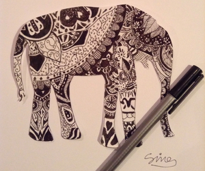 art and drawing pen elephant image