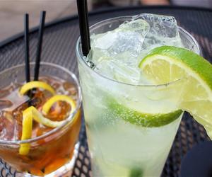 drink, lemon, and alcohol image