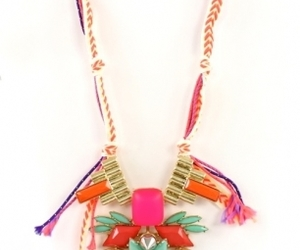 fashion, neon necklace, and friendship image