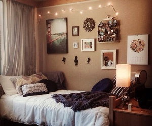 bedroom, college, and neutral image