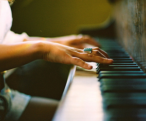 piano, music, and photography image
