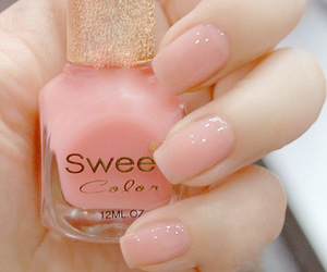 pink, girly, and nails image