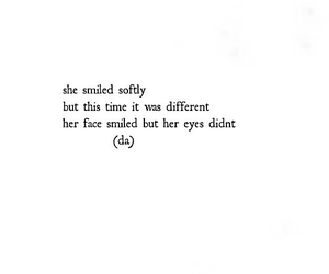 quotes, smile, and sad image