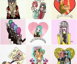girly, illustration, and indie image