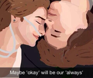 john green, augustus waters, and tfios image