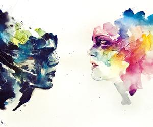 acuarela, colorful, and drawing image