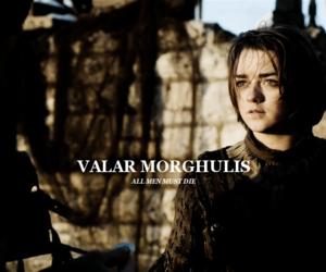 arya stark, game of thrones, and valar morghulis image