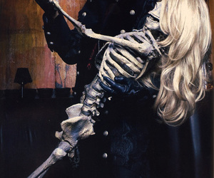 alice cooper and skeleton image