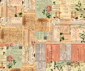 vintage, flowers, and wallpaper image