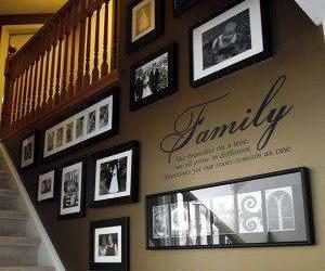 family, photo, and wall image