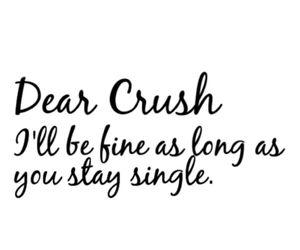 single, crush, and love image