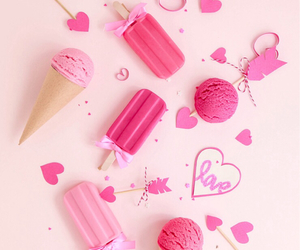 pink, summer, and love image