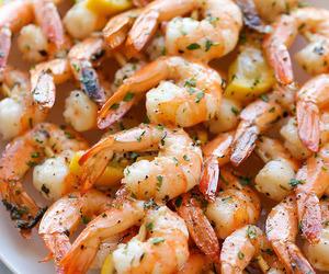 food, shrimp, and lemon image
