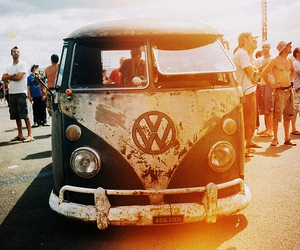 beach, car, and vintage image