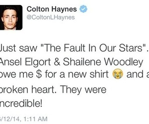 colton haynes, the fault in our stars, and tfios image