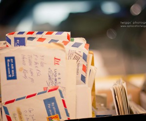 airmail, flea market, and letters image