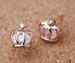 accessories, crown, and earring image