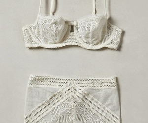 white, underwear, and lace image