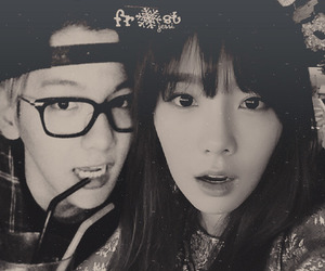exo, taeyeon, and baekhyun image