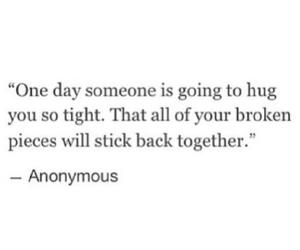 quote, hug, and tumblr image