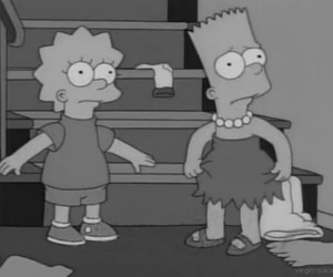 bart, lisa, and the simpsons image