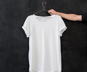 fashion, white, and t-shirt image
