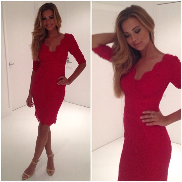 red dress and clasy image