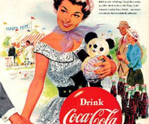 coca cola, coke, and commercial image