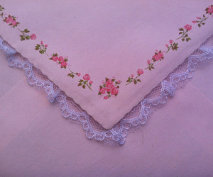 pink, flowers, and Letter image