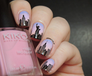 nails, new york, and pink image