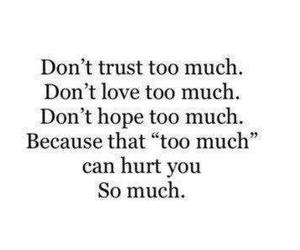 love, hurt, and trust image