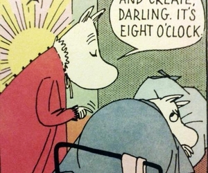 bed, get up, and moomin image