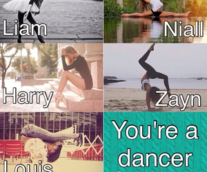 dancer, liam payne, and louis tomlinson image