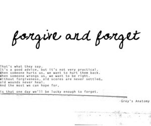 forget, forgive, and advice image