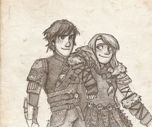 astrid, drawing, and hiccup image