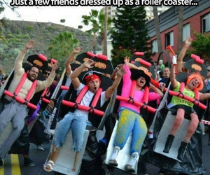 funny, Roller Coaster, and friends image