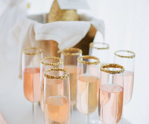 champagne, pink, and rose image