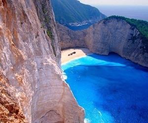 sea, beach, and Greece image