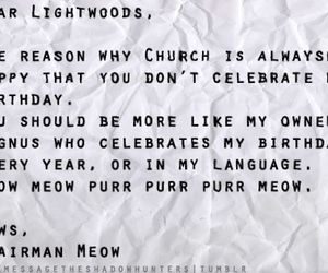 tmi letters and chairman meow&church image