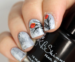 flowers, grey, and nail polish image