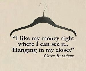 money, quote, and closet image