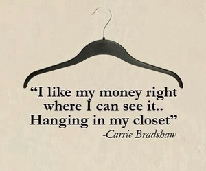 money, quotes, and closet image