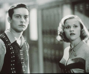 black and white, Reese Witherspoon, and pleasantville image