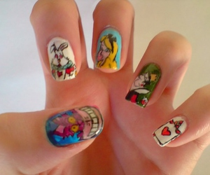 nails and alice in wonderland image