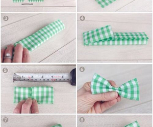 diy, bow, and green image
